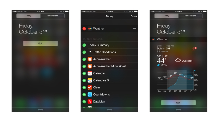 Adding Today Widgets to Notification Center