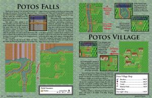 Two-page spread from the beginning of the walkthrough.